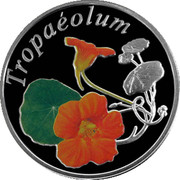 Belarus 10 Roubles The Nasturtium 2013 Proof KM# 520 TROPAEOLUM coin reverse