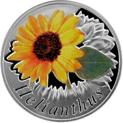 Belarus 10 Roubles The Sunflower 2013 Proof KM# 521 HELIANTHUS coin reverse