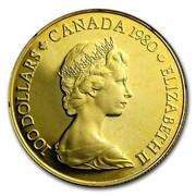 Canada 100 Dollars Arctic Territories 1980 KM# 129 100 DOLLARS CANADA 1980 ELIZABETH II coin obverse