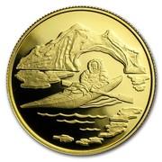 Canada 100 Dollars Arctic Territories 1980 KM# 129 - coin reverse