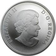 Canada 100 Dollars Bald Eagle 2014 Matte Proof KM# 1936 ELIZABETH II D ∙ G ∙ REGINA coin obverse
