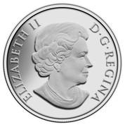 Canada 100 Dollars Bison Stampede 2013 Matte Proof KM# 1441 ELIZABETH II D ∙ G ∙ REGINA coin obverse