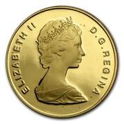 Canada 100 Dollars International Year of The Child 1979 Proof KM# 126 ELIZABETH II D∙G∙REGINA coin obverse