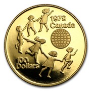 Canada 100 Dollars International Year of The Child 1979 Proof KM# 126 100 DOLLARS 1979 CANADA coin reverse