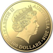 Australia 100 Dollars Kangaroo 25th Anniv 2018 ELIZABETH II AUSTRALIA 2018 100 DOLLARS 2018 coin obverse