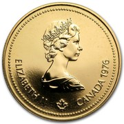 Canada 100 Dollars Montreal Olympics 1976 KM# 115 ELIZABETH II CANADA 1976 coin obverse
