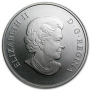 Canada 100 Dollars The Grizzly 2014 KM# 1555 ELIZABETH II D ∙ G ∙ REGINA coin obverse