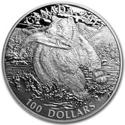 Canada 100 Dollars The Grizzly 2014 KM# 1555 CANADA 2014 100 DOLLARS coin reverse