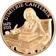 Moldova 100 Lei Dimitrie Cantemir 2008 Proof KM# 52 DIMITRIE CANTEMIR 1673 1723 coin reverse