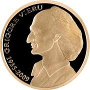 Moldova 100 Lei Grigore Vieru 2010 Proof KM# 61 GRIGORE VIERU 1935-2009 coin reverse