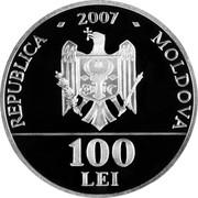 Moldova 100 Lei Petru Rares 2007 Proof KM# 42 REPUBLICA - 2007 - MOLDOVA 100 LEI coin obverse