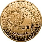 Belarus 100 Roubles Leo 2011 Proof KM# 400 coin reverse