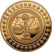 Belarus 100 Roubles Libra 2011 Proof KM# 402 coin reverse