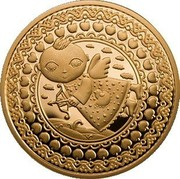 Belarus 100 Roubles Sagittarius 2011 Proof KM# 404 coin reverse