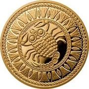 Belarus 100 Roubles Scorpio 2011 Proof KM# 403 coin reverse