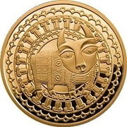 Belarus 100 Roubles Taurus 2011 Proof KM# 397 coin reverse