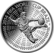 Belarus 100 Roubles The 2014 FIFA World Cup Brazil 2013 Proof KM# 447 2014 FIFA WORLD CUP BRAZIL (TM) coin reverse
