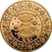 Belarus 100 Roubles Virgo 2011 Proof KM# 401 coin reverse