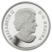 Canada 15 Dollars Year of the Horse 2014 Proof KM# 1514 ELIZABETH II D∙G∙REGINA coin obverse