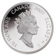 Canada 15 Dollars Zodiac Series - Year of the Horse 2002 KM# 463 15 DOLLARS CANADA 2002 ELIZABETH II coin obverse