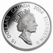 Canada 15 Dollars Zodiac Series - Year of the Monkey 2004 KM# 610 15 DOLLARS CANADA 2004 ELIZABETH II coin obverse