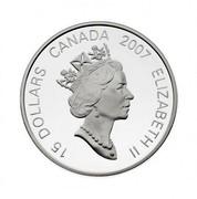 Canada 15 Dollars Zodiac Series - Year of the Pig 2007 Proof KM# 732 15 DOLLARS CANADA 2007 ELIZABETH II coin obverse