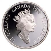Canada 15 Dollars Zodiac Series - Year of the Rabbit 1999 Proof KM# 331 15 DOLLARS CANADA 1999 ELIZABETH II coin obverse