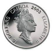 Canada 15 Dollars Zodiac Series - Year of the Ram 2003 KM# 481 15 DOLLARS CANADA 2003 ELIZABETH II coin obverse