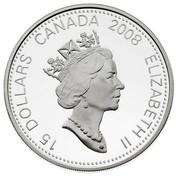 Canada 15 Dollars Zodiac Series - Year of the Rat 2008 Proof KM# 801 15 DOLLARS CANADA 2008 ELIZABETH II coin obverse