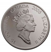Canada 15 Dollars Zodiac Series - Year of the Rooster 2005 KM# 560 15 DOLLARS CANADA 2005 ELIZABETH II coin obverse