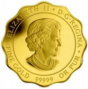 Canada 150 Dollars Blessings of Good Fortune 2012 Proof KM# 1262 ∙ ELIZABETH II ∙ D∙G∙REGINA ∙ FINE GOLD 99999 OR PUR coin obverse