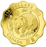 Canada 150 Dollars Blessings of Good Fortune 2012 Proof KM# 1262 150 DOLLARS 2012 CANADA coin reverse