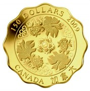 Canada 150 Dollars Blessings of Wealth 2009 Proof KM# 899 150 DOLLARS 2009 CANADA HC coin reverse