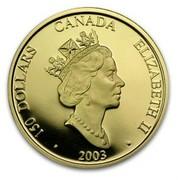 Canada 150 Dollars Year of the Sheep 2003 Proof KM# 487 150 DOLLARS CANADA ELIZABETH II · 2003 · coin obverse