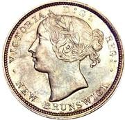 Canada 20 Cents Victoria 1864 KM# 9 VICTORIA D:G: REG: ∙ NEW BRUNSWICK ∙ coin obverse