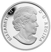 Canada 20 Dollars Bald Eagle With Fish 2014 Proof KM# 1735 ELIZABETH II D ∙ G ∙ REGINA coin obverse