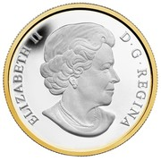 Canada 20 Dollars Perched Bald Eagle 2014 Proof KM# 1736 ELIZABETH II D∙G∙REGINA coin obverse
