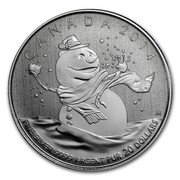 Canada 20 Dollars Snowman 2014 KM# 1777 CANADA 2014 FINE SILVER 9999 ARGENT PUR 20 DOLLARS coin reverse