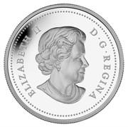 Canada 20 Dollars The Bald Eagle 2013 Proof KM# 1440 ELIZABETH II D ∙ G ∙ REGINA coin obverse