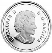 Canada 20 Dollars The Great Lakes - Lake Erie 2014 Proof KM# 1568 ELIZABETH II D ∙ G ∙ REGINA coin obverse