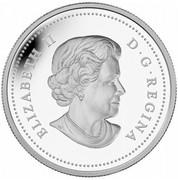 Canada 20 Dollars Venetian Glass Snowman 2014 Proof KM# 1795 ELIZABETH II D∙G∙REGINA coin obverse