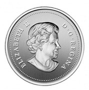 Canada 20 Dollars Year of the Snake 2013 Proof KM# 1365 ELIZABETH II D·G·REGINA coin obverse