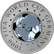 Belarus 20 Roubles 2006 FIFA World Cup 2005 Proof KM# 101 2006 FIFA WORLD CUP GERMANY ™ coin reverse