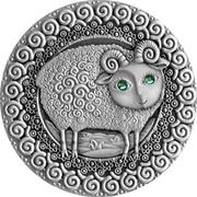 Belarus 20 Roubles Aries 2009 Matte Proof KM# 204 coin reverse