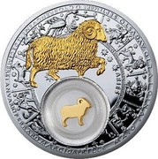 Belarus 20 Roubles Aries 2013 Proof KM# E513 ARIES coin reverse