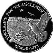 "Belarus 20 Roubles Braslaw Lakes National Park - Herring Gull 2003 Proof KM# 122 НАЦЫЯНАЛЬНЫ ПАРК ""БРАСЛАЎСКІЯ АЗЁРЫ"" ЧАЙКА КЛЫГУН coin reverse"