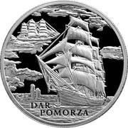 Belarus 20 Roubles Dar Pomorza 2009 Proof KM# 200 DAR POMORZA coin reverse