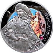 Belarus 20 Roubles D'Artagnan 2009 KM# 242 D'ARTAGNAN coin reverse