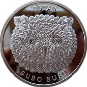 Belarus 20 Roubles Eagle Owl 2010 Proof KM# 375 ПУГАЧ BUBO BUBO coin reverse