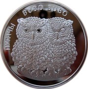 Belarus 20 Roubles Eagle Owls 2010 Proof KM# 279 ПУГАЧЫ BUBO BUBO coin reverse